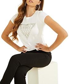 Mesh-Chain Logo-Print T-Shirt