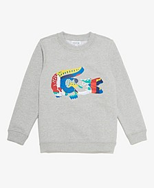 Little Boys Long Sleeve Crew Neck Cotton-Blend Sweatshirt
