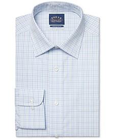 Men's Slim-Fit Non-Iron Stretch Collar Check Dress Shirt