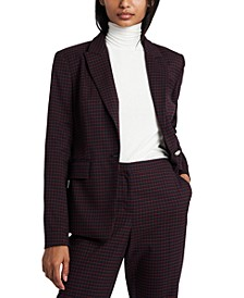 Checkered Blazer, Created for Macy's