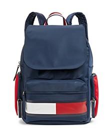 Allie Colorblock Flap Backpack