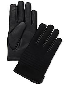 Men's Melton Faux-Leather Touchscreen Gloves