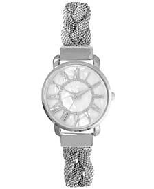Women's Silver-Tone Braided Mesh Bracelet Watch 32mm, Created for Macy's