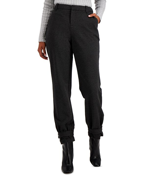 INC International Concepts INC Tapered Belted-Hem Pants, Created for Macy's