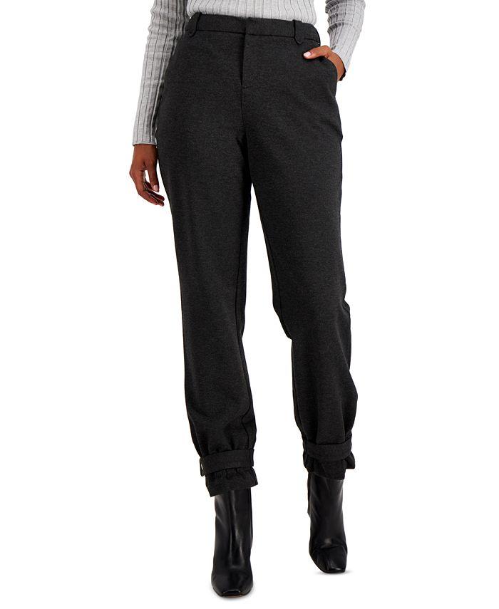 INC International Concepts - Tapered Belted-Hem Pants