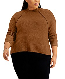Trendy Plus Size Mock-Neck Sweater
