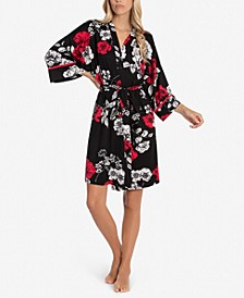 Genevie Floral-Print Wrap Robe
