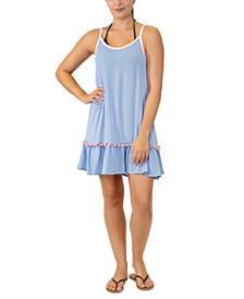 Juniors' Adjustable Pom-Pom-Trim Cover-Up, Created for Macy's