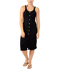 Juniors' Adjustable Button-Front Cover-Up, Created for Macy's
