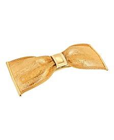 Women's Gold-Tone Bow Hair Barrette