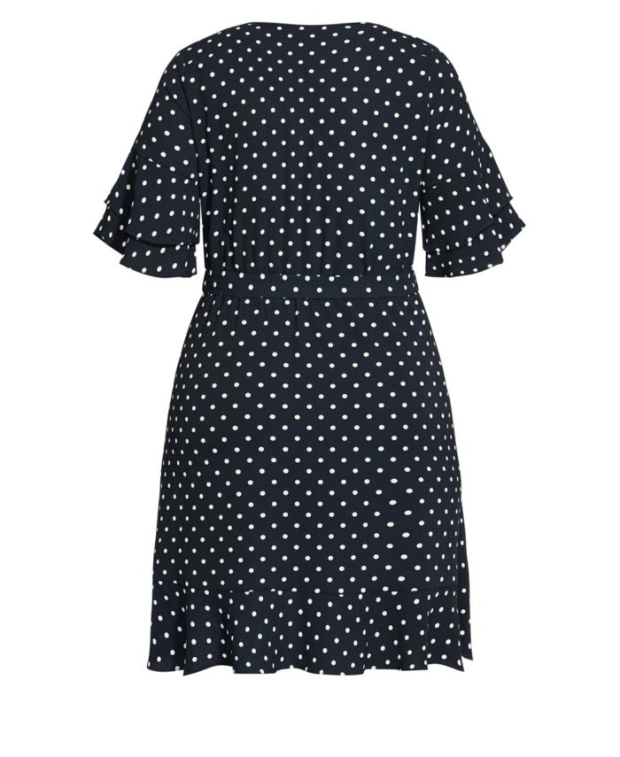 City Chic Women's Trendy Plus Size Fresh Spot Dress & Reviews - Dresses - Plus Sizes - Macy's