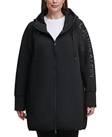 Plus Size High-Density Logo Zip Hoodie