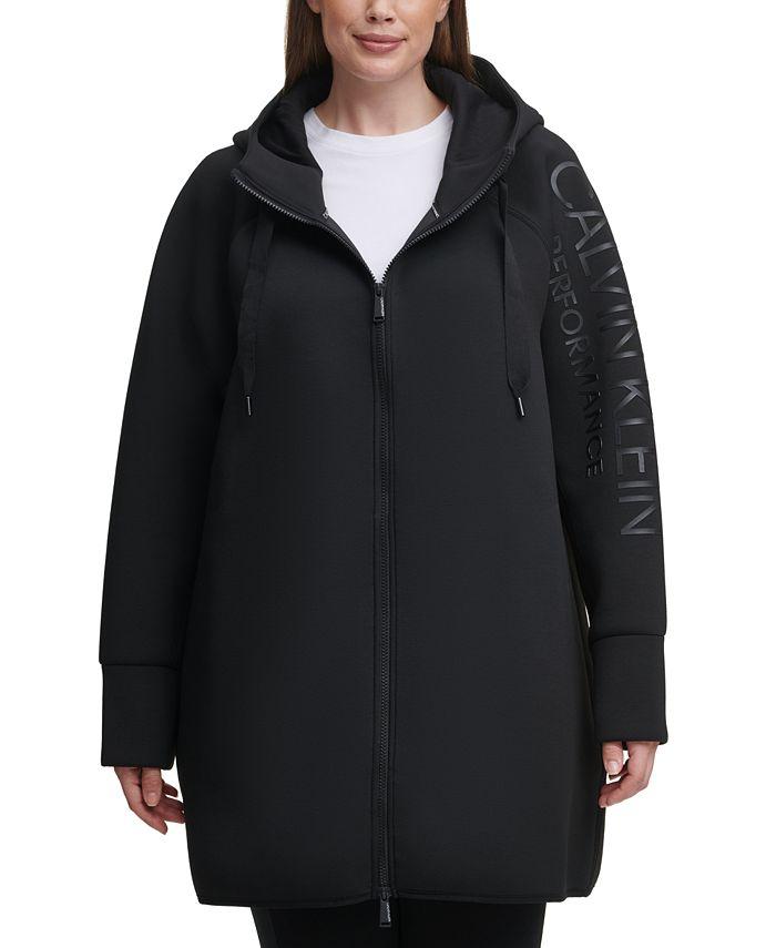 Calvin Klein - Plus Size High-Density Logo Zip Hoodie