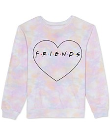 Juniors Tie Dye Friends Sweatshirt