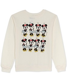 Juniors Minnie Mouse Graphic Print Sweatshirt