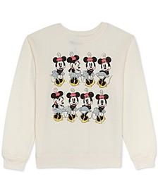 Juniors Minnie Mouse Graphic Print Sweatshirt