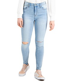 Juniors' High-Rise Curvy Skinny Ankle Jeans