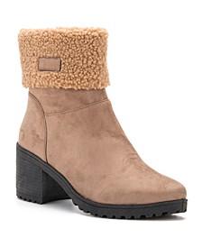 Women's Clovia Block Heel Lug Sole Booties