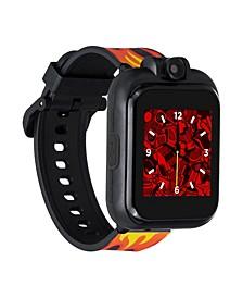 Kid's Playzoom 2 Black Racing Flames Tpu Strap Smart Watch 41mm