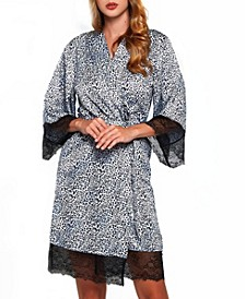 Women's Leopard and Lace Wrap