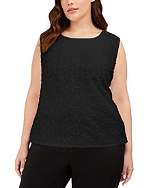Plus Size Sequined Textured Top