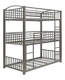 Franskton Metal Triple Bunk Bed, Twin