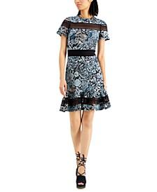 Paisley-Print Dress, Regular & Petite Sizes