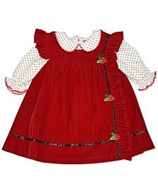 Baby Girls Velveteen Jumper Set