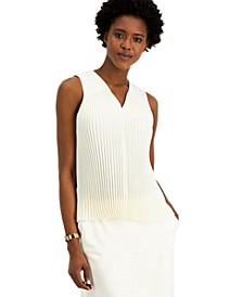 Pleated V-Neck Tank Top, Created for Macy's