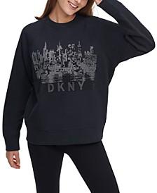Rhinestone Cityscape Sweatshirt