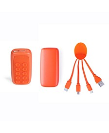 Week Ender 5A Universal Phone Charger with Built-in Micro-Suction Cups and Octopus Multi Tip Charging Cable