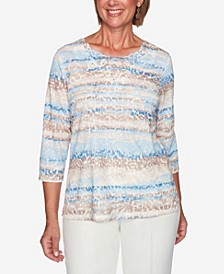 Women's Missy Dover Cliffs Animal Print Biadere Top