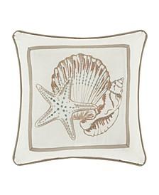 "Water's Edge Square Decorative Throw Pillow, 16"" x 16"""