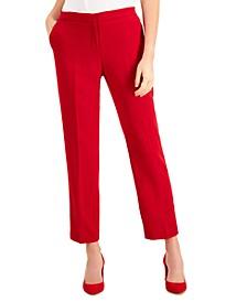 Elastic-Back Skinny Pants