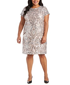 Plus Size Sequin Sheath Dress