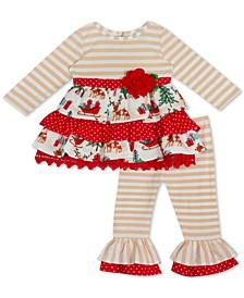 Baby Girls 2-Pc. Tiered Top & Leggings Set