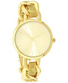 Women's Gold-Tone Chain & Mesh Bracelet Watch 32mm, Created for Macy's