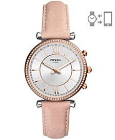 Women's Hybrid Smart Watch Carlie Blush Leather Strap Watch 36mm