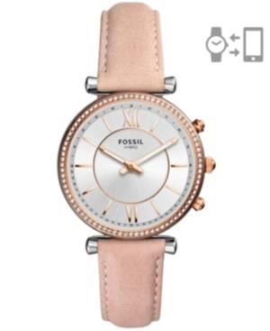 Women's Hybrid Smart Watch Carlie Blush Leather Strap Watch 36mm