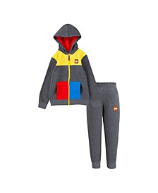 LEGO Little Boys Fleece Zip Hoodie and Joggers Set