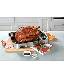 3-Ply Stainless Steel Roasting Pan with Nonstick Rack