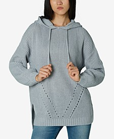 Juniors' Hooded High-Low Tunic