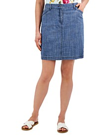 Petite Chambray Skort, Created for Macy's