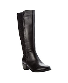 Women's Talise Leather Wide Calf Tall Boots