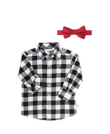 Baby Boys Long Sleeve Button Down Shirt and Bow Tie Set