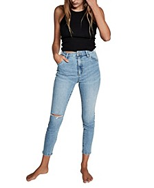 Women's High Rise Cropped Skinny Jean