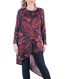 Women's Plus Size Asymmetric Tunic Top