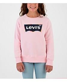 Girl Batwing Chenille Crewneck Sweatshirt