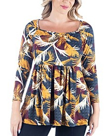 Women's Plus Size Babydoll Tunic Top