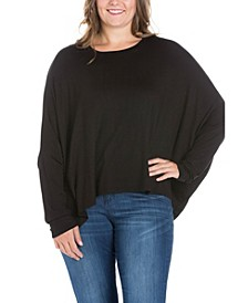 Women's Plus Size Oversized Long Sleeves Dolman Top